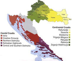 Croatian wine regions