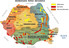 Romania Wine map
